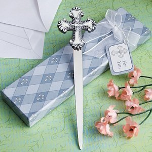 Letter Opener Favors with Cross Charm image