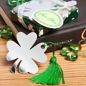 Shamrock/Four Leaf Clover Bookmark Favors image