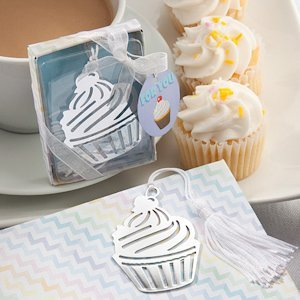 Cupcake Designed Bookmark Party Favors image