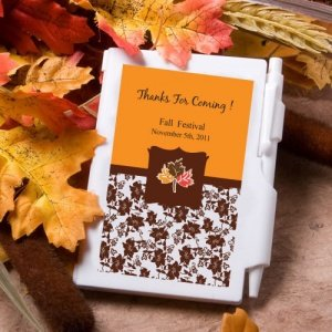 Personalized Autumn Notebook Favors image