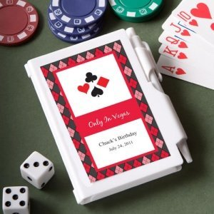 Casino Themed Personalized Notebook Favors image
