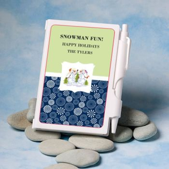 Personalized Holiday Themed Notebook Favors image