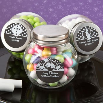 Chalk Board Collection Candy Glass Jar Favors image