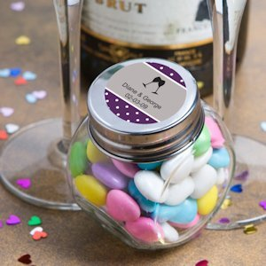 Personalized Wedding Anniversary Glass Jar Favors image
