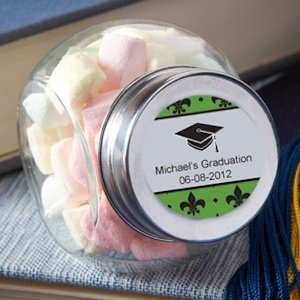 Glass Jar Personalized Graduation Party Favors image