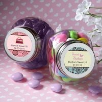 Personalized Sweet 16 Party Favor Jars (Many Designs)