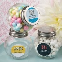Personalized Marquee Design Candy Glass Jar Favors