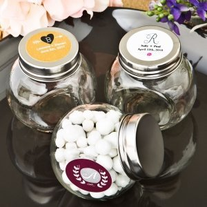 Monogram Collection Candy Glass Jar Favors image