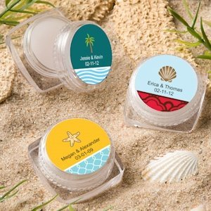 Personalized Lip Balm Beach Theme Favors image