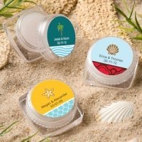 Personalized Lip Balm Beach Theme Favors