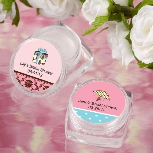 Lip balm personalized bridal shower favors for Personalized wedding shower favors