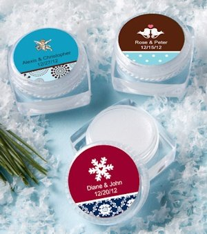 Personalized Winter Theme Lip Balm Favors image