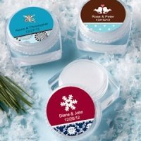 Personalized Winter Theme Lip Balm Favors