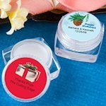 Winter Themed Personalized Lip Balm Favors