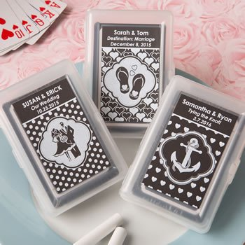 Chalk Board Collection Playing Card Favors image