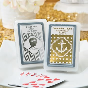 Personalized Metallics Collection Boxed Playing Cards Favors image