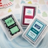 Personalized Birthday Design Playing Card Favors