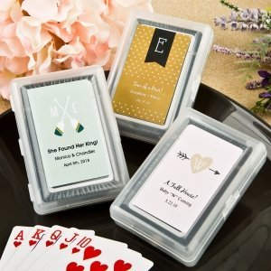 Monogram Collection Clear Case Playing Card Favors image