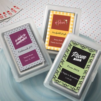 Personalized Prom Design Playing Card Favors image