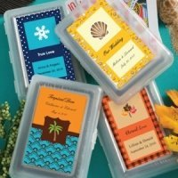 Custom Seasonal Theme Playing Card Favors