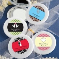 Personalized Wedding Mirror Compact Favors