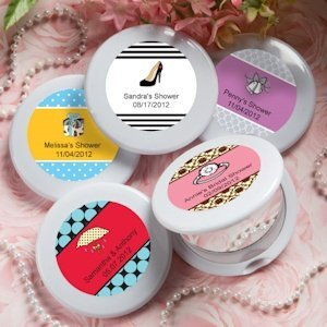 Bridal Shower Personalized Favors - Compact Mirrors image