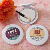 Personalized Marquee Design Compact Mirror Favors