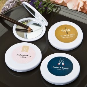 Monogram Collection Compact Mirror Favors image