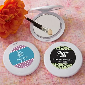 Personalized Prom Design Compact Mirror Favors image