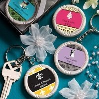 Personalized Wedding Key Ring Favors
