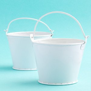 Small Pails for Favors - White Metal image