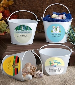 Personalized Holiday Party Pails image