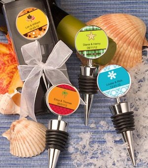 Personalized Seasonal Design Wine Bottle Stopper Favors image
