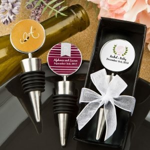 Monogram Collection Wine Bottle Stopper Favors image