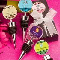 Personalized Shower Favors - Wine Bottle Stoppers