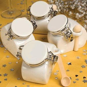Perfectly Plain Collection Ceramic Jar Favors image