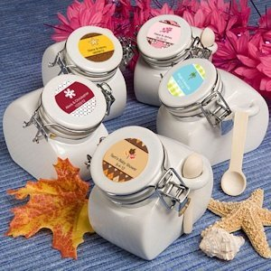 Personalized Seasons Ceramic Jar Favors image