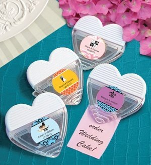 Personalized Heart Shaped Magnetic Wedding Memo Clips image