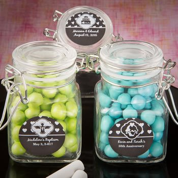 Chalk Board Design Apothecary Glass Jar Favors image