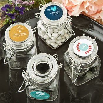 Monogram Collection Apothecary Glass Jar Favor image