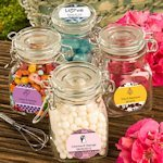 Personalized Apothecary Jar Wedding Favors
