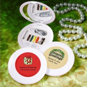 Personalized Holiday Sewing Kit Party Favors image