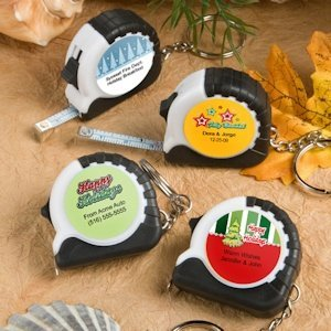 Key Chain and Measuring Tape Favors - Holiday image