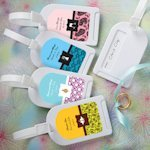 Personalized Luggage Tags Wedding Favors