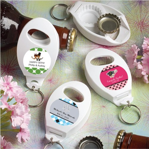 personalized sweet celebrations bottle opener keychains. Black Bedroom Furniture Sets. Home Design Ideas