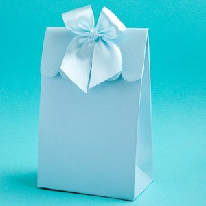 Perfectly Plain Collection Blue Favor Boxes image
