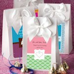 White Gift Box with Personalized Label and Bow