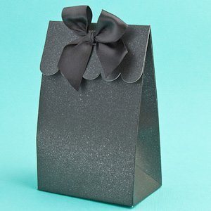 Perfectly Plain Collection Black Party Favor Boxes image