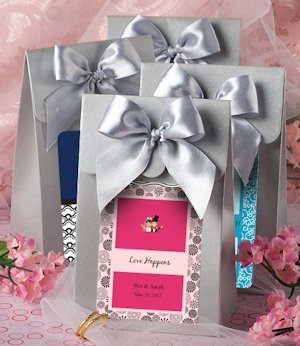 Personalized Silver Gift Box with Bow image