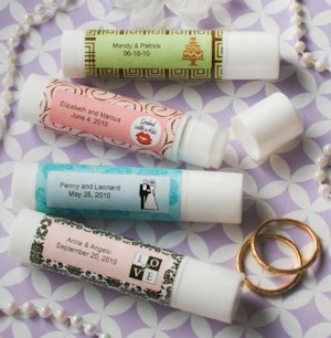 Personalized Lip Balm Wedding Favors - Chapstick Style image